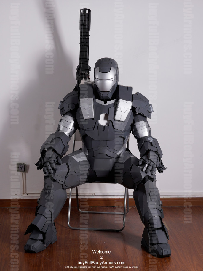 War Machine suit costume sit