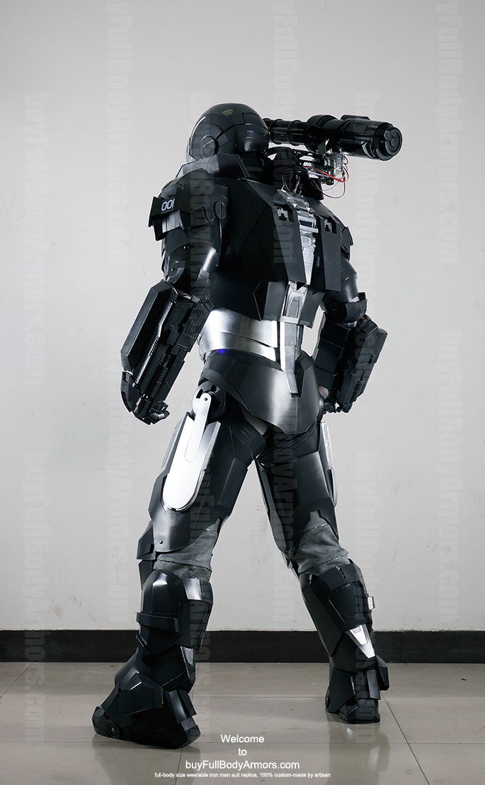 wearable War Machine suit costume back