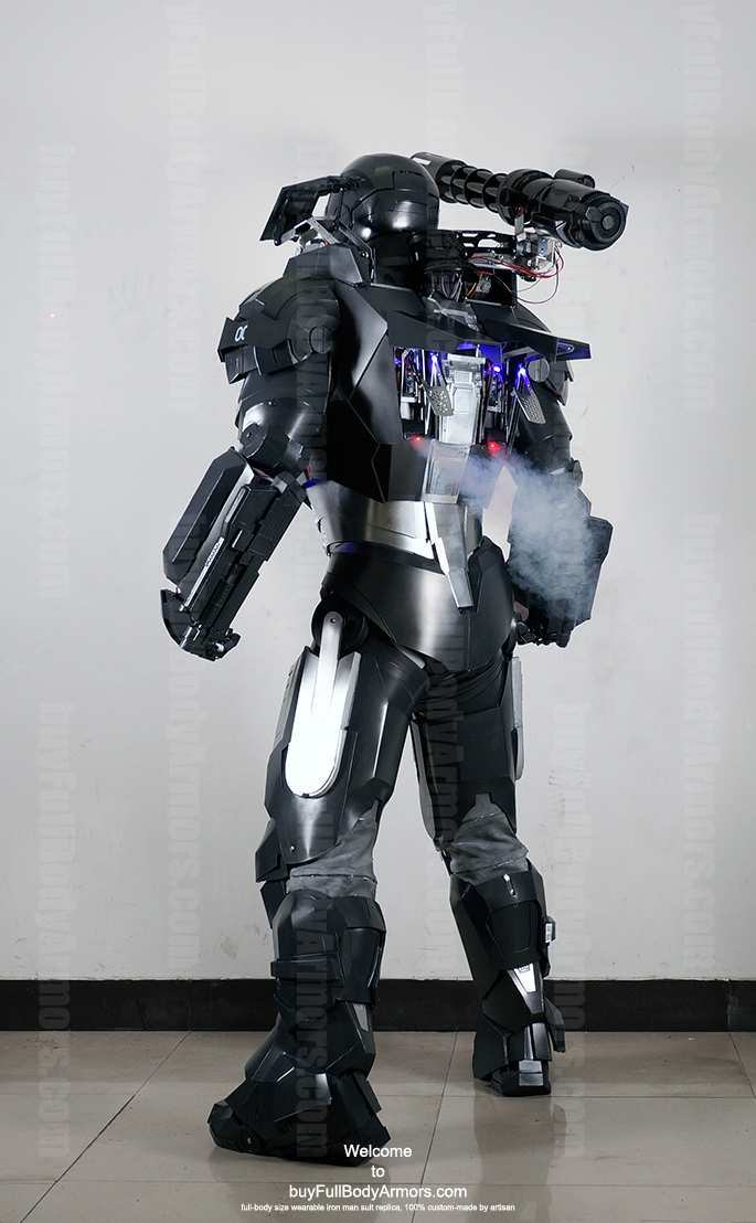 wearable War Machine suit costume back co2