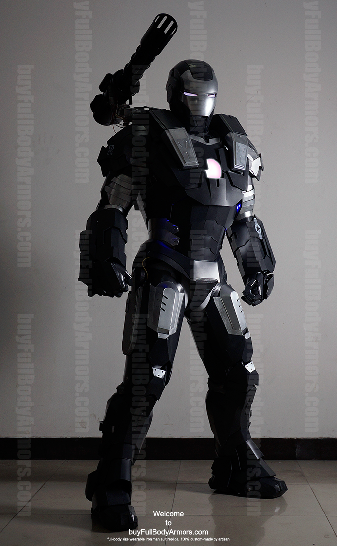 wearable War Machine suit costume front black