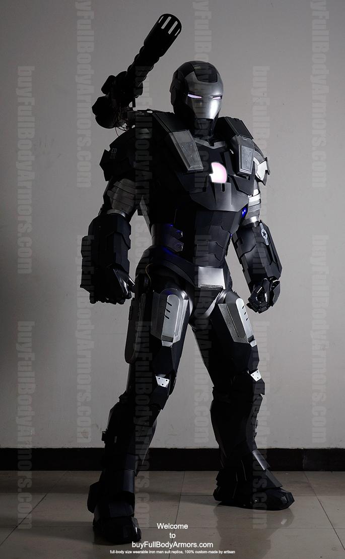 wearable War Machine suit costume front black