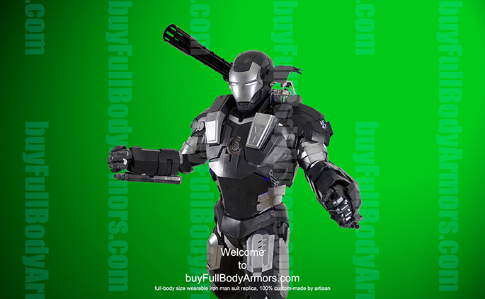 wearable War Machine suit costume green