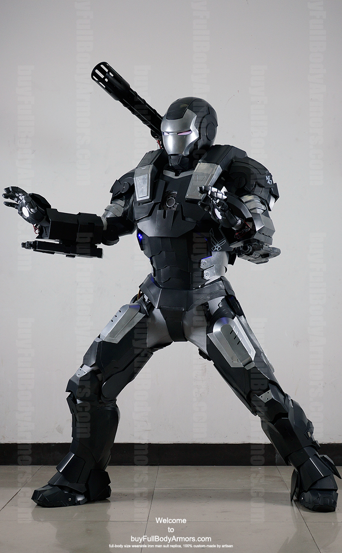 wearable War Machine suit costume side