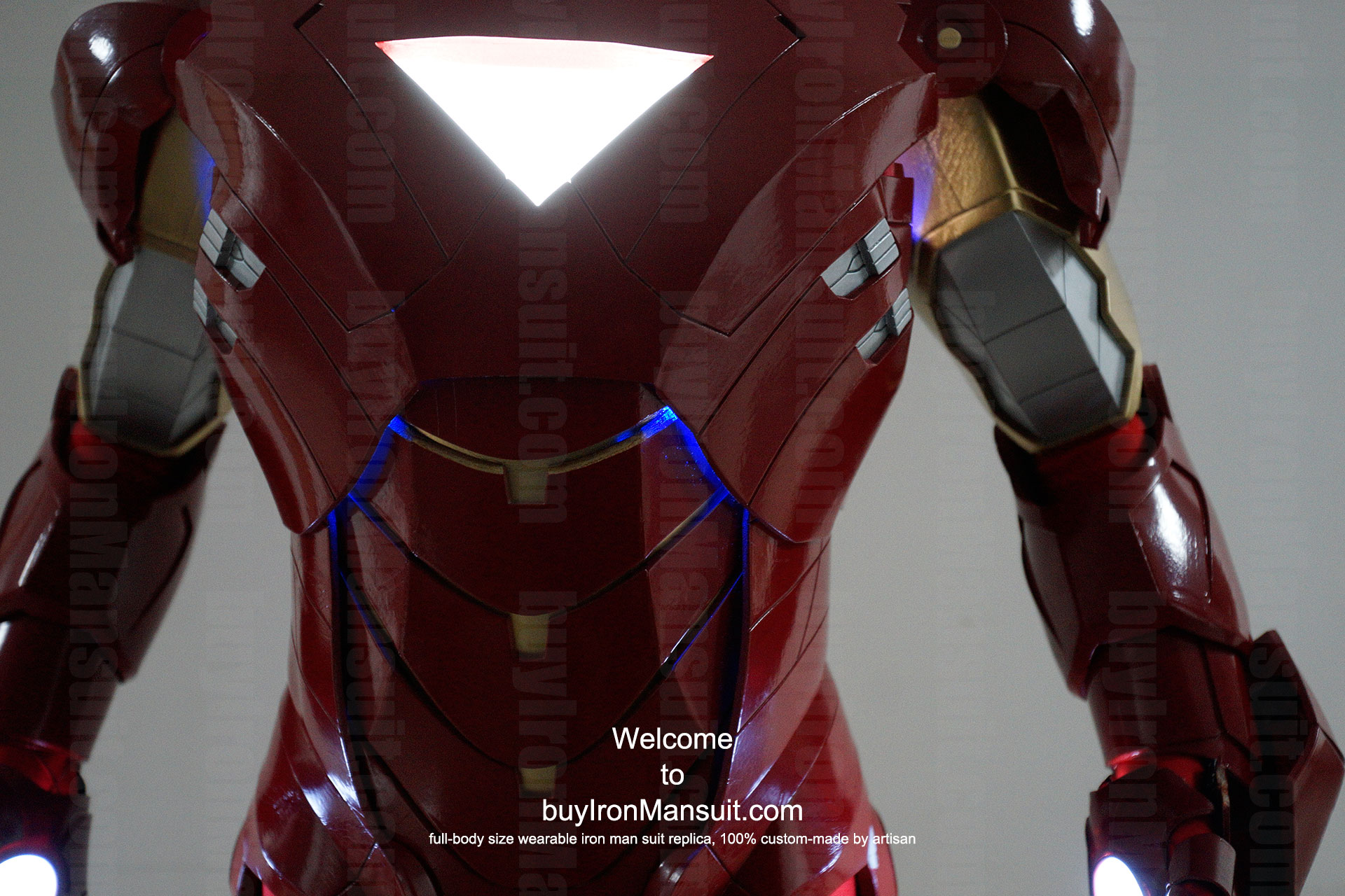 how to make iron man chest light