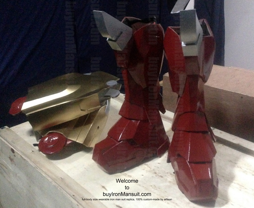 IronMan Mark VI Costume Thigh & Leg Armors