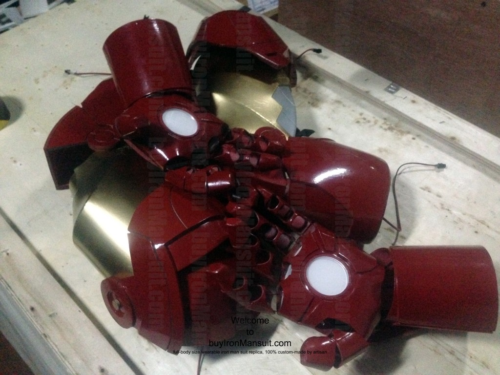IronMan Mark VI Costume Arm & Hand Palm Armors