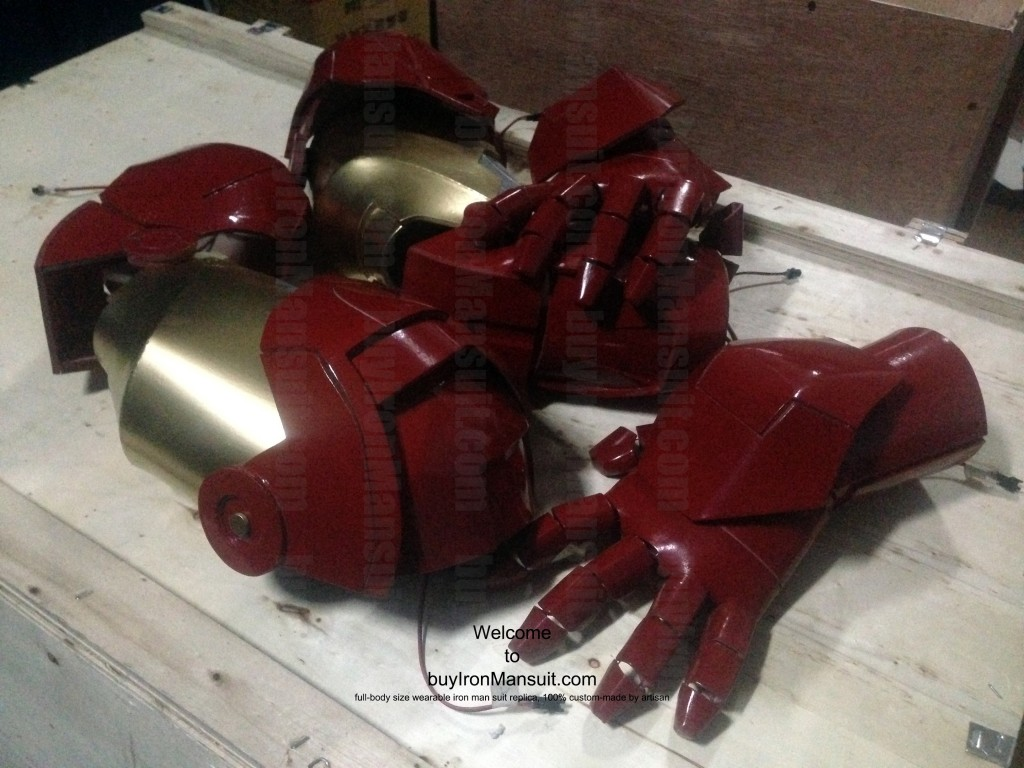 IronMan Mark VI Costume Shoulder & Arm & Hand Back Armors